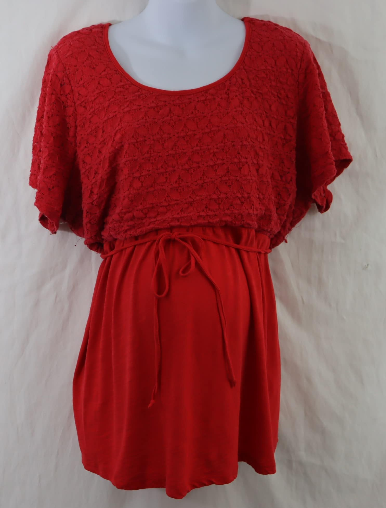 Oh Baby By Motherhood Red Blouse Maternity Traders